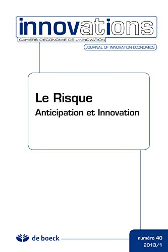 9782804177638: Cahiers d'�conomie de l'Innovation 2013/1 N.40