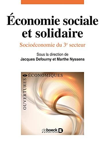 9782804183028: Économie sociale et solidaire, Socioéconomie du 3e secteur