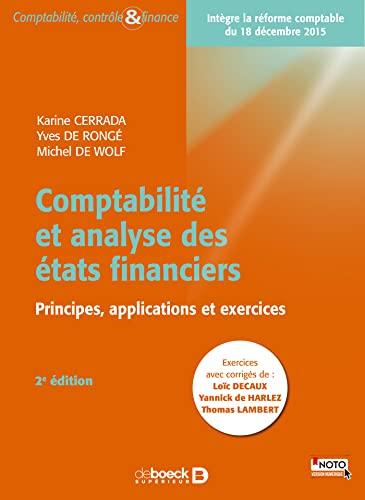 9782804188948: Comptabilité et analyse des états financiers - Manuel + volume d'exercices