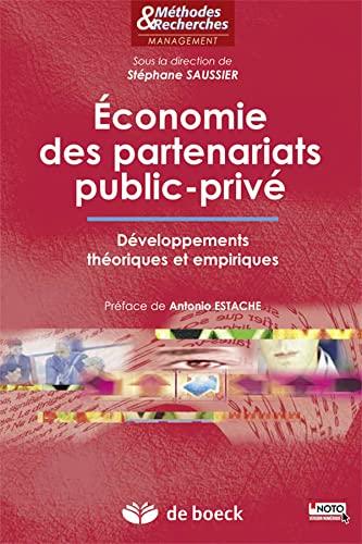 ECONOMIE DES PARTENARIATS PUBLIC PRIVE: SAUSSIER 1RE ED 2015