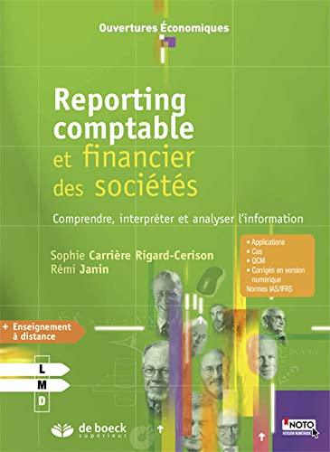 REPORTING COMPTABLE ET FINANCIER DES SOC: COLLECTIF 1RE ED 15