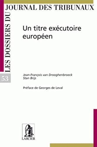 le titre executoire europeen - djt53