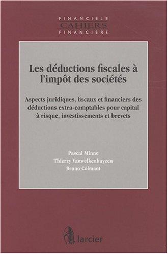 les deductions fiscales a l'impot des societes: Pascal Minne