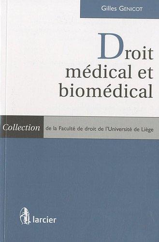 droit médical et biomédical: Gilles Genicot