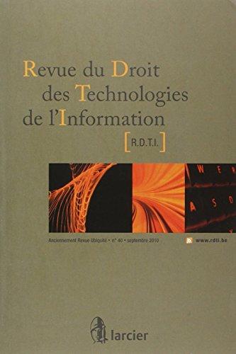 revue droit techn. de l'info 2010/3 n 40