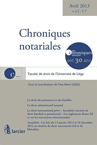 Chroniques notariales t.57: Leleu
