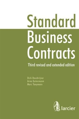 9782804461041: Standard Business Contracts: Third Revised and Extended Edition, with Boilerplates (CD-ROM Included)