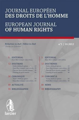 Journal europeen des droits de l'homme 2013/3: Collectif