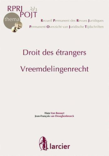 Droit des etrangers: Van Bossuyt Van Droo