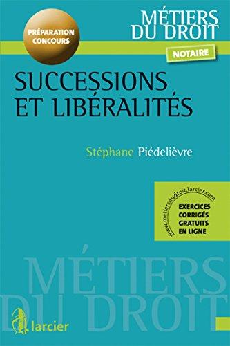 9782804472825: Successions et lib�ralit�s