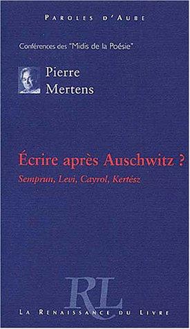 9782804607838: Écrire après Auschwitz ?