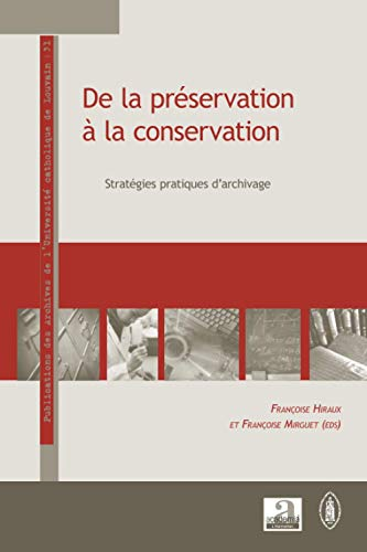 9782806101662: De la préservation à la conservation