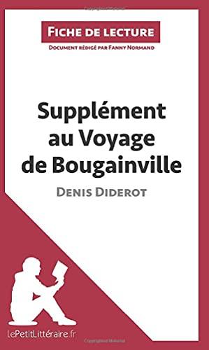 9782806212344: Supplément au voyage de Bougainville de Denis Diderot (Fiche de lecture): Résumé Complet Et Analyse Détaillée De L'oeuvre