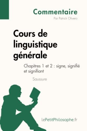 Cours De Linguistique Generale De Saussure Chapitre