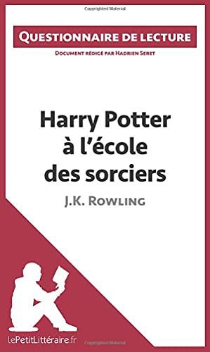9782806260680: Harry Potter � l'�cole des sorciers de J. K. Rowling: Questionnaire de lecture