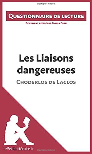 9782806261113: Les Liaisons dangereuses de Choderlos de Laclos: Questionnaire de lecture