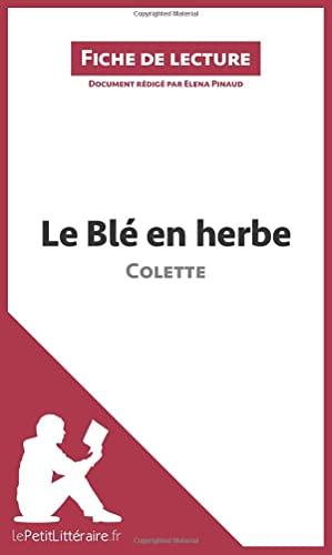 9782806266453: Le Blé en herbe de Colette: Résumé complet et analyse détaillée de l'oeuvre