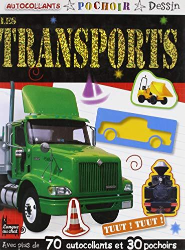 9782806300904: Autocollants pochoir dessin : Les transports