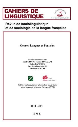 9782806611369: Genres, Langues et Pouvoirs