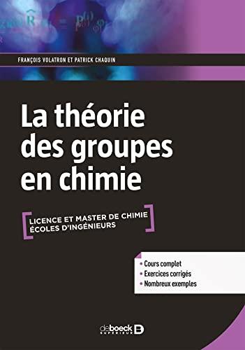 9782807307438: La théorie des groupes en chimie