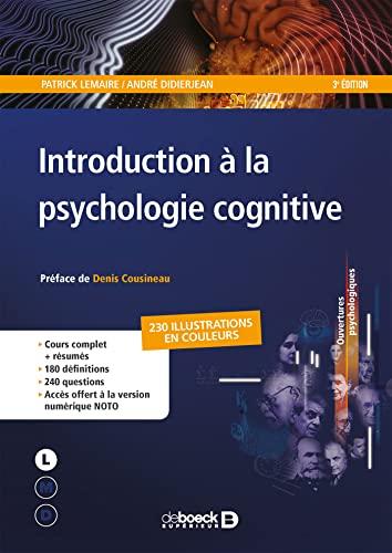 9782807307841: Introduction à la psychologie cognitive