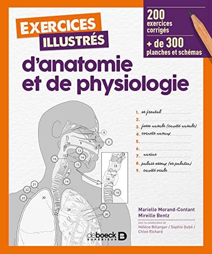 9782807315389: Exercices illustrés d'anatomie et de physiologie