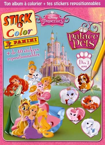 9782809440270: STICK & COLOR Palace Pets (Princesses Disney)
