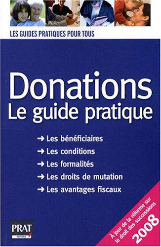 9782809500332: Donations : Le guide pratique 2008