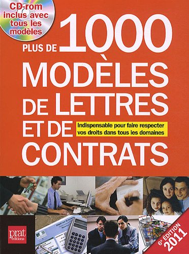 9782809502008: Plus de 1000 modèles de lettres et de contrats (1Cédérom) (French Edition)