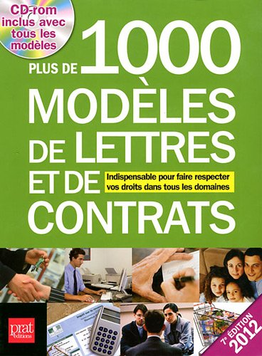 9782809502961: Plus de 1000 modèles de lettres et de contrats 2012 (1Cédérom)