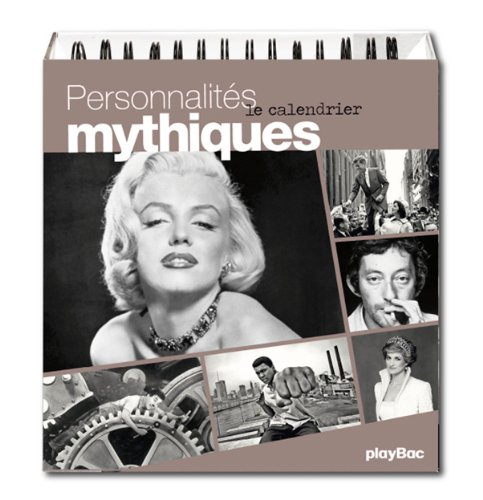 9782809649796: CALENDRIER PERSONNALITES MYTHIQUES