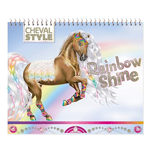 9782809652253: Je dessine mon cheval Rainbow Shine