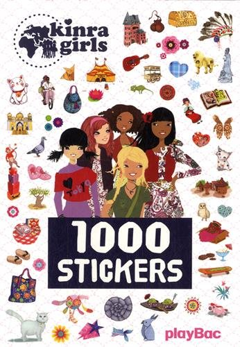 9782809653656: 1000 stickers Kinra girl
