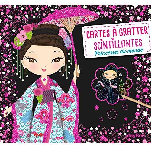9782809664201: Cartes à gratter scintillantes - Princesses du monde - Minimiki