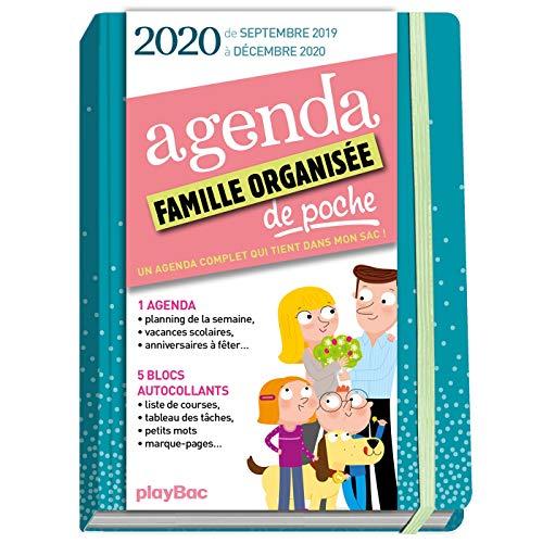9782809665833: Agenda de poche de la famille organisée 2020 - Bleu (de sept 2019 à décembre 2020): S'organiser n'a jamais été aussi simple !