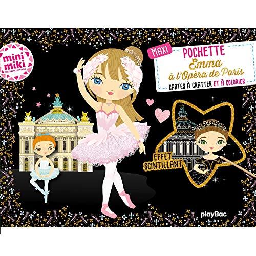9782809668766: Maxi pochette Emma à l'Opéra de Paris - Cartes à gratter et à colorier (Minimiki)