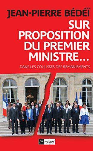 9782809816280: Sur proposition du Premier ministre (Politique, idée, société)