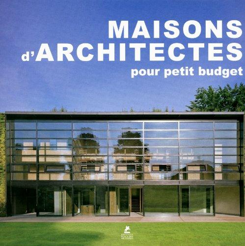 9782809903942: maisons d'architectes pour petits budgets