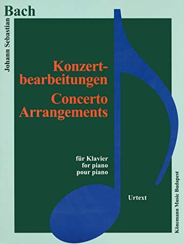 9782809910841: Partition - Bach - Konzerbearbeitungen - Adaptations pour concerts - pour piano