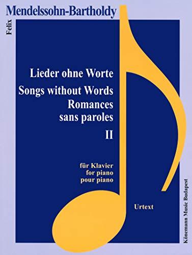 9782809911343: Partition - Mendelssohn-Bartholdy - Romances sans paroles II - pour piano