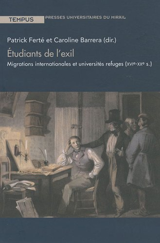 """étudiants de l'exil ; migrations internationales et universités refuges (..."