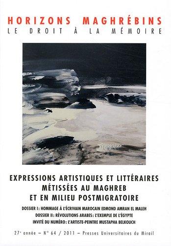 expressions artistiques et litteraires metissees au maghreb et en milieu postmigratoire: ...