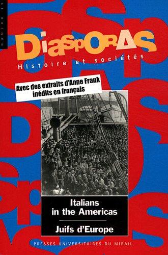 Diasporas No 19 The Italians in the Americas For a renegociation: Cabanel Patrick