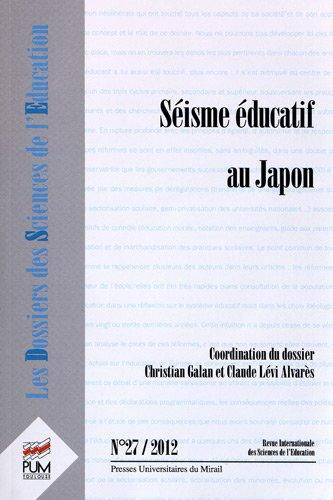 9782810702046: Séisme éducatif au Japon : Les dossiers des sciences de l'éducation, n°27