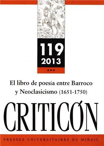 9782810702831: El libro de poesia entre barroco y neoclasicismo 1651 1750