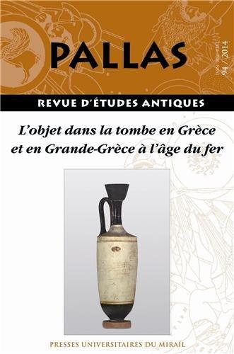 Objet dans la tombe en grece et en grande grece a l age du fer: Rico Christian