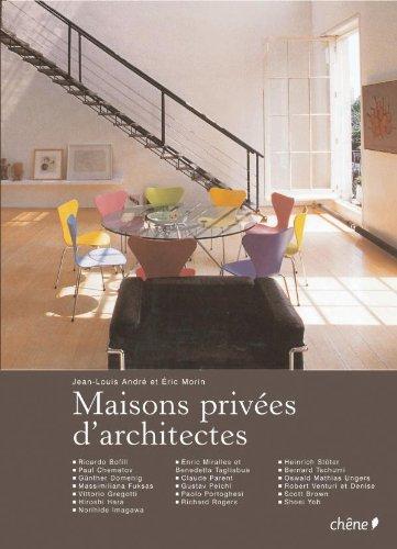 9782812301995: Maisons privées d'architectes (broché)