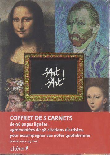 9782812302756: coffret de 3 carnets de notes D'Art D'Art