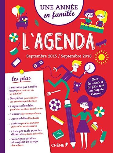 9782812312441: L'Agenda Une année en famille sept 2015-sept 2016