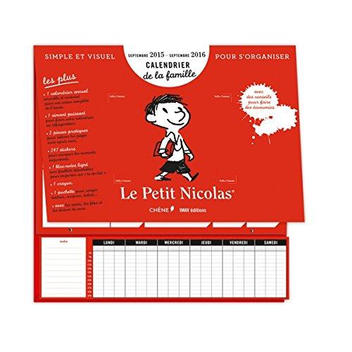 9782812312472: Calendrier de la famille Le Petit Nicolas, sept 2015/sept 2016